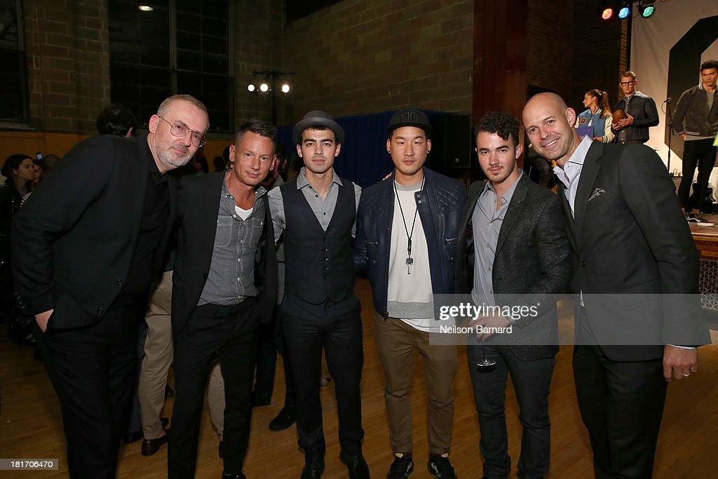 GQ Creative Director Jim Moore GQ EditorinChief Jim Nelson Joe Jonas designer Richard Chai Kevin Jonas and Vice President and Publisher of GQ Chris...