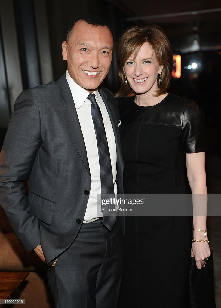 Creative Director, <a gi-track='captionPersonalityLinkClicked' href=/galleries/search?phrase=Joe+Zee&family=editorial&specificpeople=2257766 ng-click='$event.stopPropagation()'>Joe Zee</a> and Co-Chair of Disney Media and President of Disney-ABC <a gi-track='captionPersonalityLinkClicked' href=/galleries/search?phrase=Anne+Sweeney&family=editorial&specificpeople=210622 ng-click='$event.stopPropagation()'>Anne Sweeney</a> attend the ELLE's Women in Television Celebration at Soho House on January 24, 2013 in West Hollywood, California.