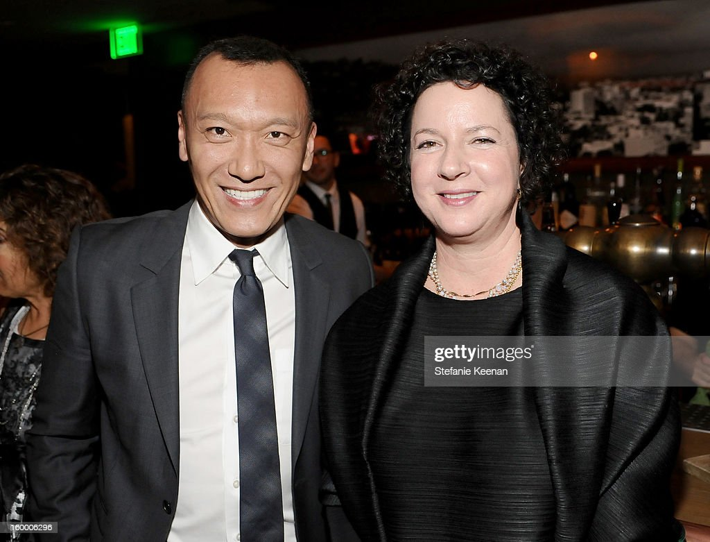 Creative Director Joe Zee (L) and Executive Producer Lauren Lexton attend the ELLE's Women in Television Celebration at Soho House on January 24, 2013 in West Hollywood, California.
