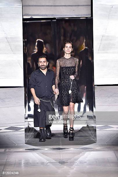 Creative director Johnny Coca walks the runway at the Mulberry fashion show during London Fashion Week Autumn/Winter 2016/2017 on February 21 2016 in...