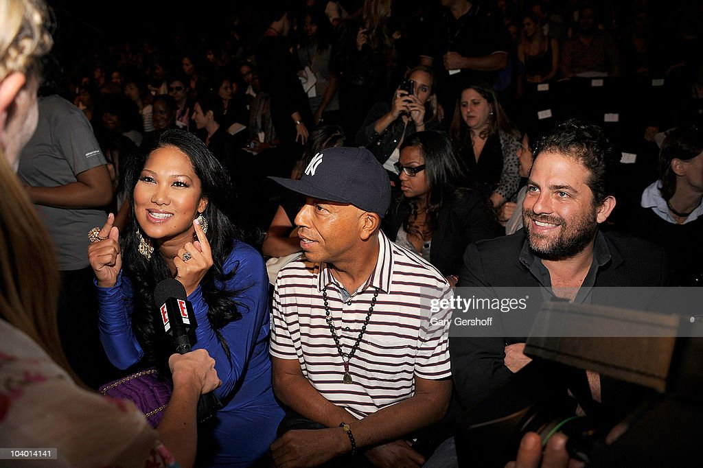 Creative director Kimora Lee Simmons, Russell Simmons, and director Brett Ratner attend the Z Spoke by Zac Posen Spring 2011 fashion show during Mercedes-Benz Fashion Week at The Theater at Lincoln Center on September 11, 2010 in New York City.