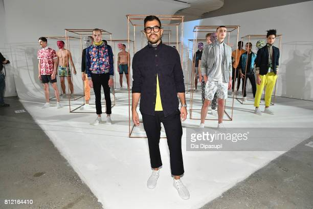 Creative Director Matteo Maniatty poses during the Descendant Of Thieves Presentation at Dune Studios on July 10 2017 in New York City