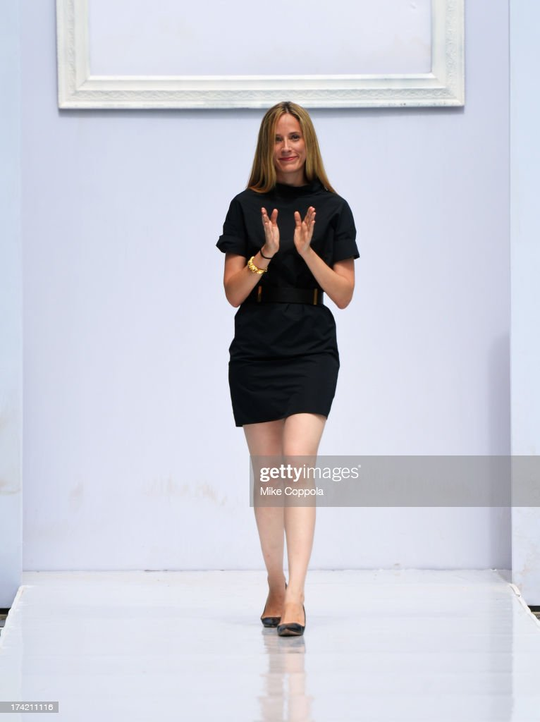 Creative Director Molly Grad walks the runway at the Gottex show during Mercedes-Benz Fashion Week Swim 2014 at the SLS Hotel on July 21, 2013 in Miami, Florida.