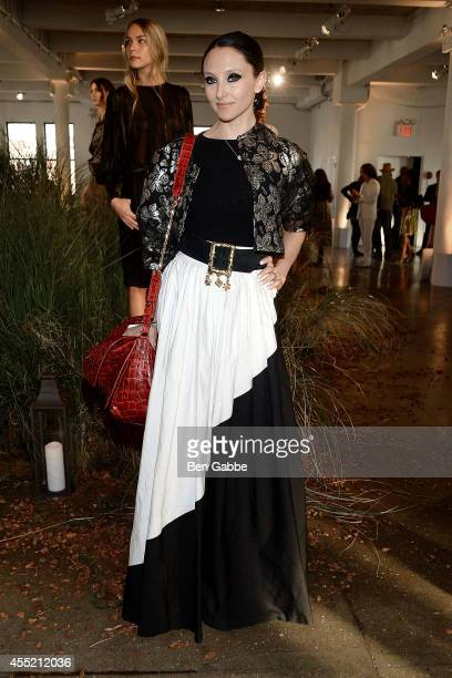 CEO Creative Director of Alice Olivia Stacey Bendet attends the Hanley Mellon Fashion Presentation during MercedesBenz Fashion Week Spring 2015 at...