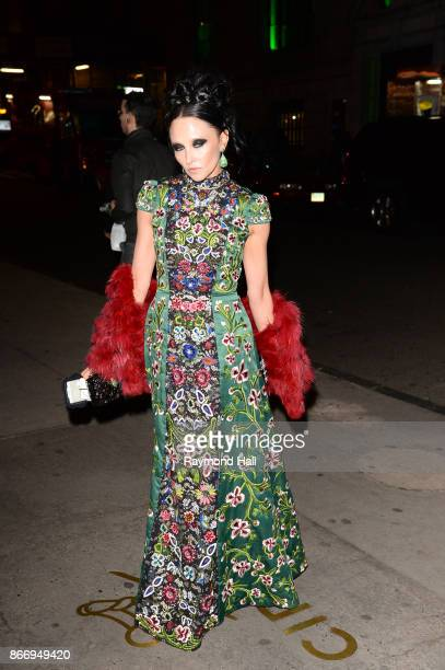 CEO Creative Director of Alice Olivia Stacey Bendet is seen walking in Soho on October 26 2017 in New York City