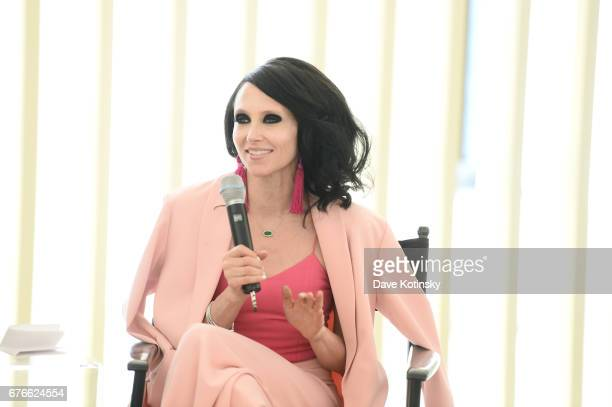 CEO Creative Director of Alice Olivia Stacey Bendet participates in a panel discussion as Saks Fifth Avenue and Vanity Fair Celebrate the 2017...