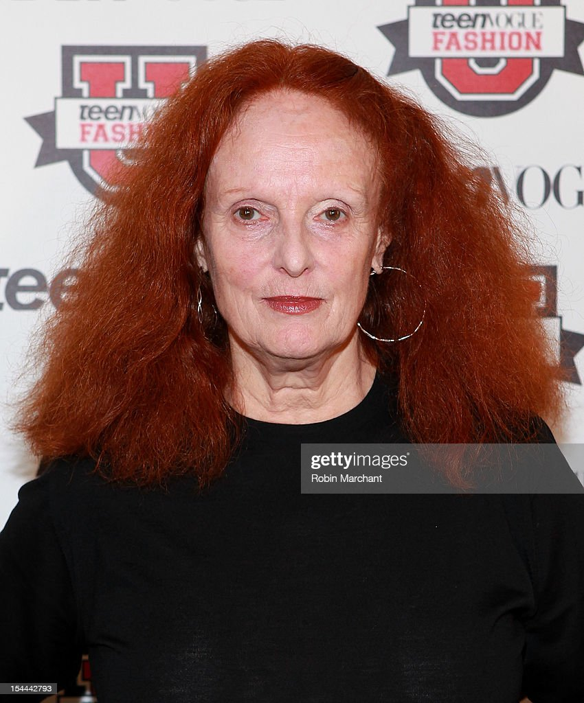 Creative director of American Vogue <a gi-track='captionPersonalityLinkClicked' href=/galleries/search?phrase=Grace+Coddington&family=editorial&specificpeople=1706831 ng-click='$event.stopPropagation()'>Grace Coddington</a> attends Teen Vogue Fashion University at the Hudson Theatre on October 20, 2012 in New York City.