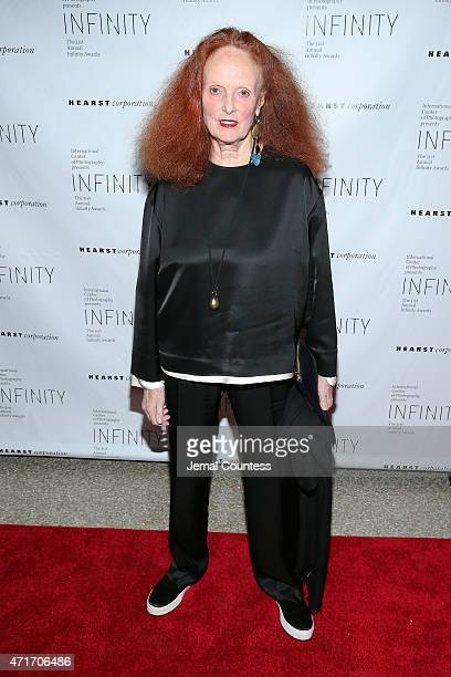 Creative Director of American Vogue Grace Coddington attends the International Center of Photography 31st annual Infinity Awards at Pier Sixty at...