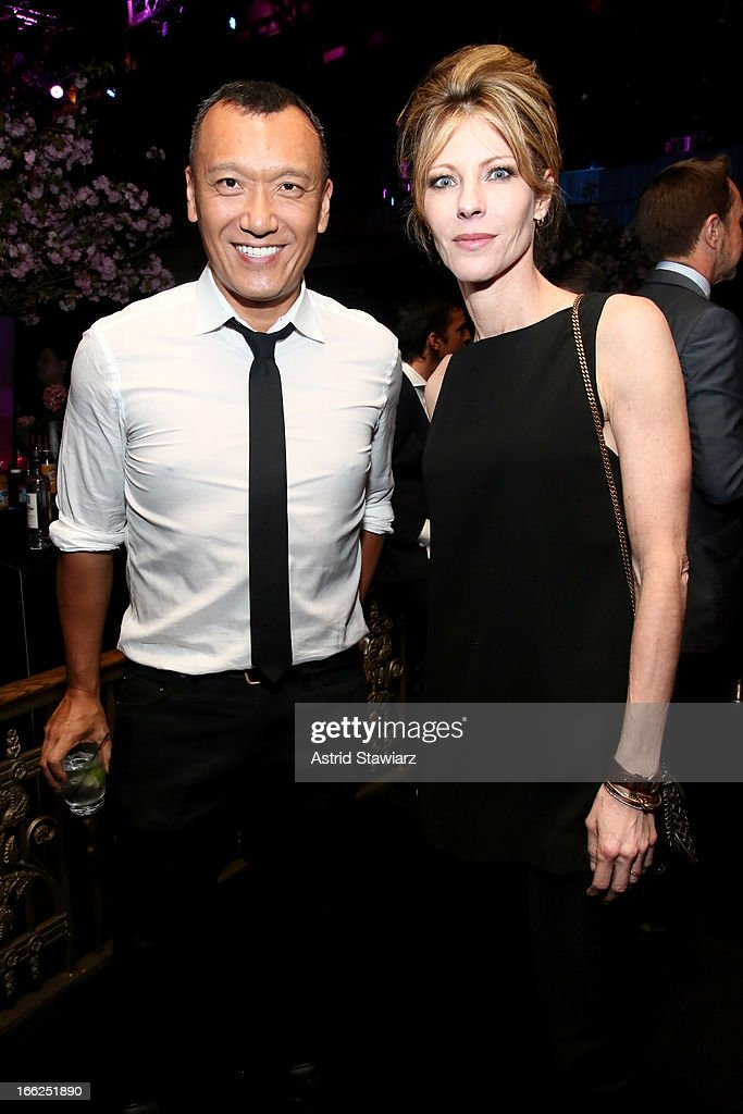 Creative director of Elle <a gi-track='captionPersonalityLinkClicked' href=/galleries/search?phrase=Joe+Zee&family=editorial&specificpeople=2257766 ng-click='$event.stopPropagation()'>Joe Zee</a> and editor-in-chief of Elle magazine <a gi-track='captionPersonalityLinkClicked' href=/galleries/search?phrase=Robbie+Myers&family=editorial&specificpeople=2260300 ng-click='$event.stopPropagation()'>Robbie Myers</a> attend the 4th Annual ELLE Women in Music Celebration presented by Covergirl at The Edison Ballroom on April 10, 2013 in New York City.