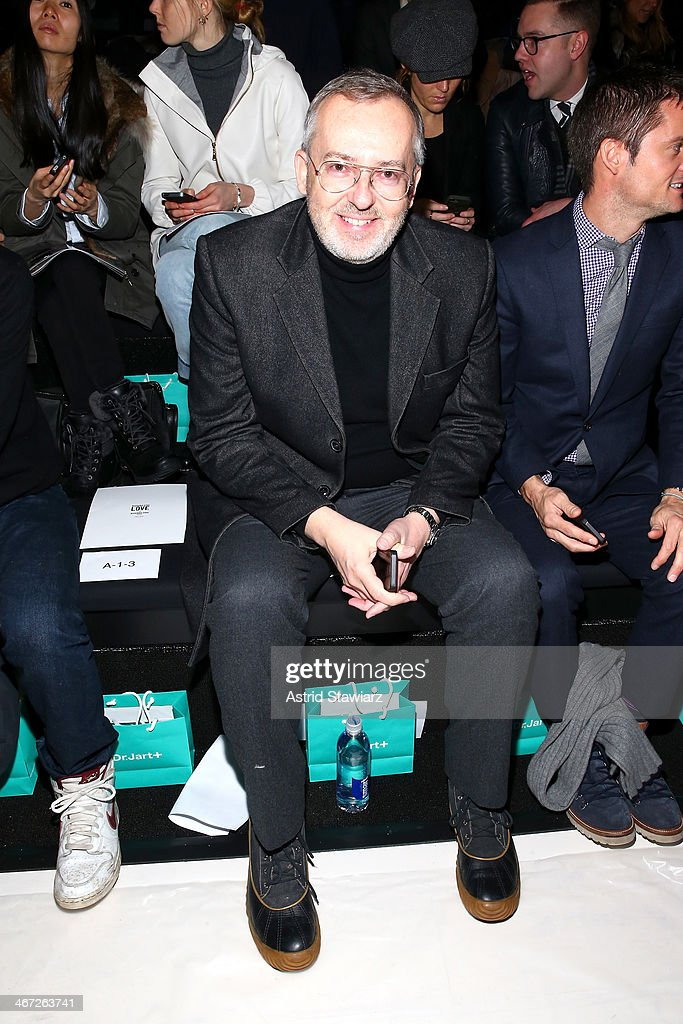 Creative Director of GQ, <a gi-track='captionPersonalityLinkClicked' href=/galleries/search?phrase=Jim+Moore+-+Creative+Director&family=editorial&specificpeople=14713491 ng-click='$event.stopPropagation()'>Jim Moore</a> attends Richard Chai fashion show during Mercedes-Benz Fashion Week Fall 2014 at The Salon at Lincoln Center on February 6, 2014 in New York City.