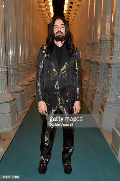 Creative Director of Gucci Alessandro Michele attends LACMA 2015 ArtFilm Gala Honoring James Turrell and Alejandro G Iñárritu Presented by Gucci at...