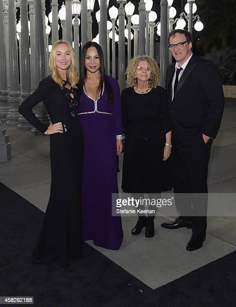 Creative Director of Gucci Frida Giannini LACMA trustee and Art Film Gala cochair Eva Chow wearing Gucci and honorees Barbara Kruger and Quentin...