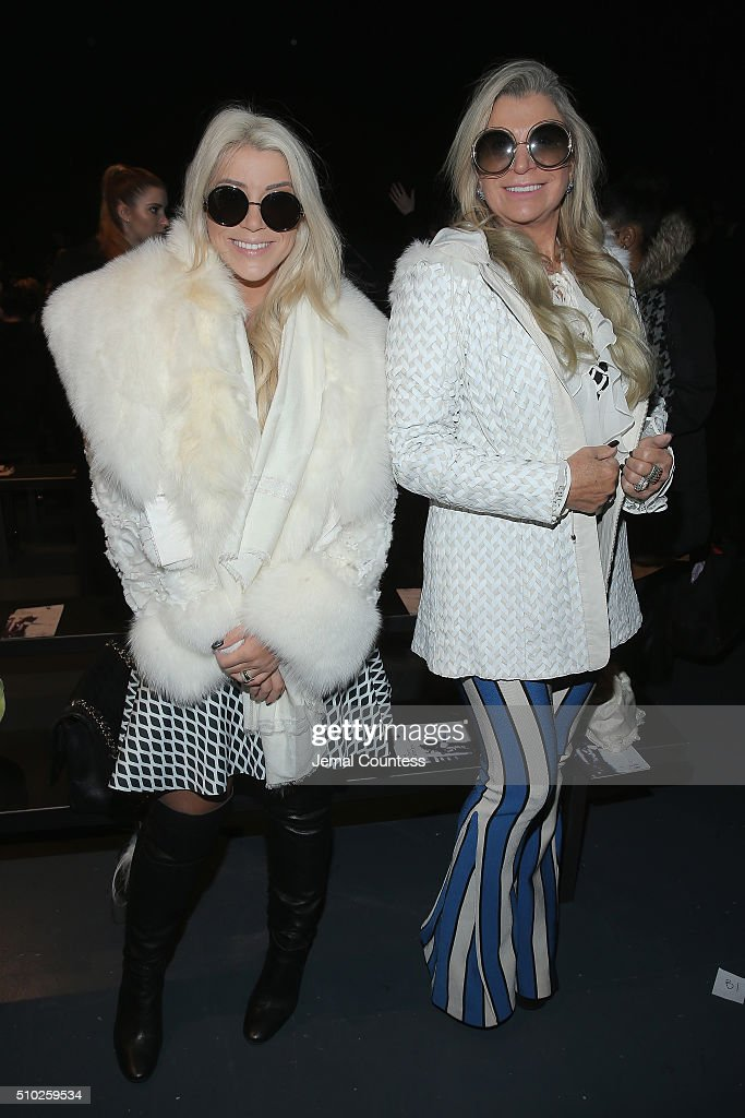 Creative director of Lanca Perfume Bruna Olivo (L) and Vera Olivo attend Asia Fashion Collection Fall / Winter 2016 - Front Row at Pier 59 Studios on February 14, 2016 in New York City.