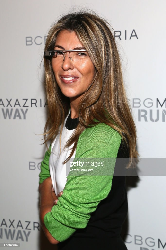 Creative director of Marie Claire magazine <a gi-track='captionPersonalityLinkClicked' href=/galleries/search?phrase=Nina+Garcia&family=editorial&specificpeople=592222 ng-click='$event.stopPropagation()'>Nina Garcia</a> poses backstage at the BCBGMAXAZRIA Spring 2014 fashion show during Mercedes-Benz Fashion Week at The Theatre at Lincoln Center on September 5, 2013 in New York City.