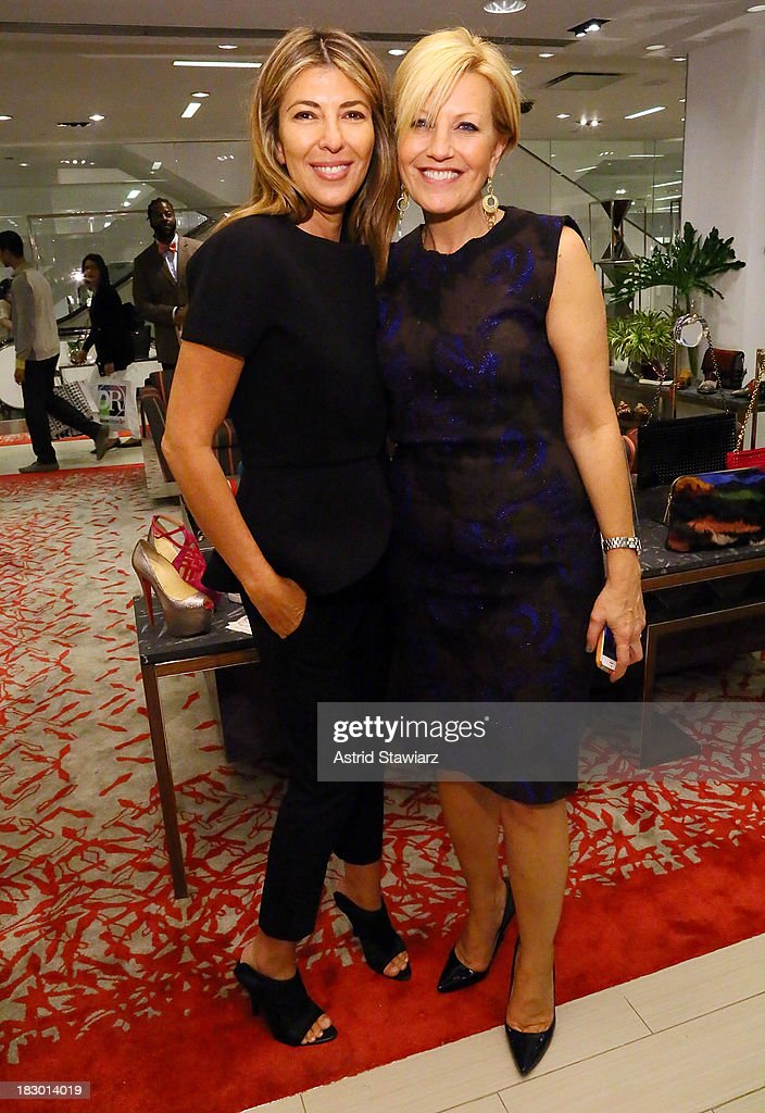 Creative Director of Marie Claire, <a gi-track='captionPersonalityLinkClicked' href=/galleries/search?phrase=Nina+Garcia&family=editorial&specificpeople=592222 ng-click='$event.stopPropagation()'>Nina Garcia</a> and VP, Publisher and Chief Revenue Office for Marie Claire, Nancy Berger Cardone attend Marie Claire's Shoes First Shopping Event At Saks Fifth Avenue on October 3, 2013 in New York City.