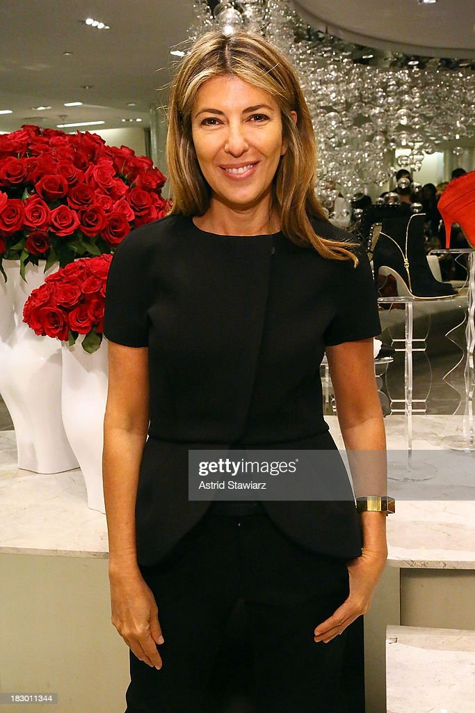 Creative Director of Marie Claire, <a gi-track='captionPersonalityLinkClicked' href=/galleries/search?phrase=Nina+Garcia&family=editorial&specificpeople=592222 ng-click='$event.stopPropagation()'>Nina Garcia</a> attends Marie Claire's Shoes First Shopping Event At Saks Fifth Avenue on October 3, 2013 in New York City.