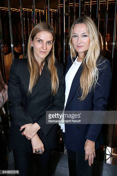 Creative director of the Italian jewellery brand Repossi Gaia Repossi and Stylist of Sonia Rykiel Julie de Libran attend the Repossi Vendome Flagship...