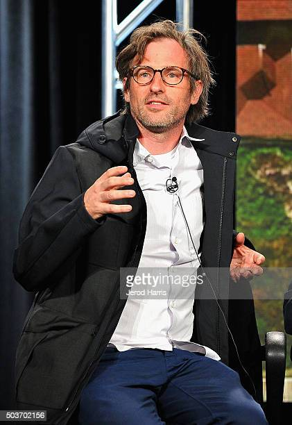Creative Director of Viceland Spike Jonze speaks onstage during the Viceland panel at the AE Networks 2016 Television Critics Association Press Tour...