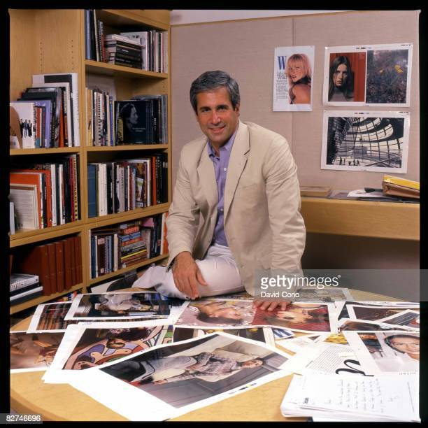 Creative Director of W Magazine Dennis Friedman poses for a portrait in his office on January 28 2000 in New York City New York