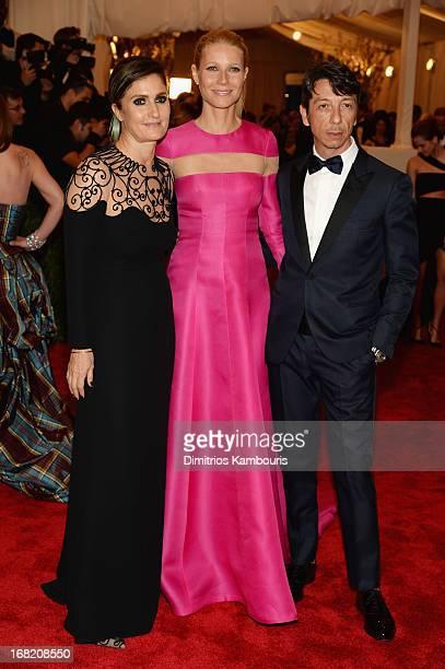 Creative directors of Valentino Maria Grazia Chiuri and Pier Paolo Picciolo with Gweneth Paltrow attend the Costume Institute Gala for the 'PUNK...