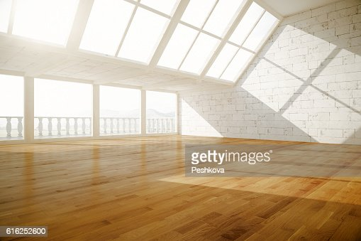 Creative empty interior side : Foto de stock