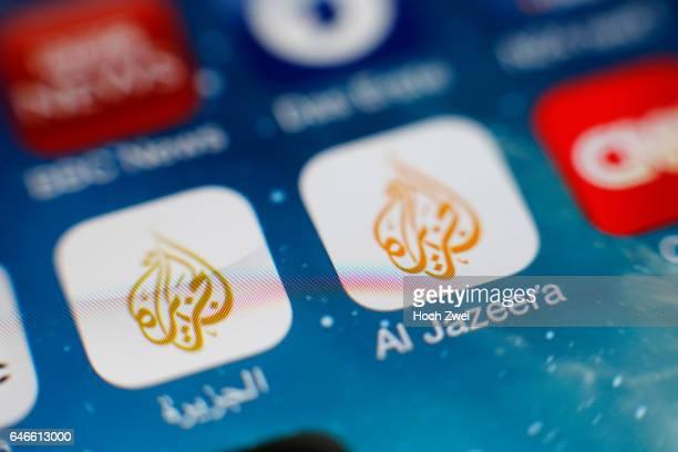 'Al Jazeera'Icon auf einem auf einem iPhone