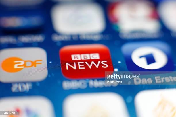 'BBC News' iPhone mobile app icon