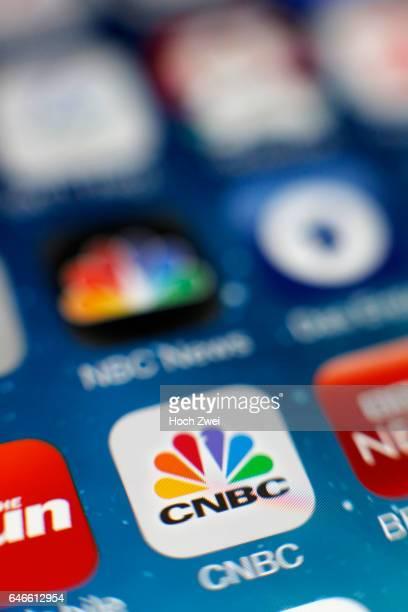 CNBCIcon auf einem auf einem iPhone
