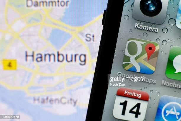 Google Maps iPhone mobile app icon