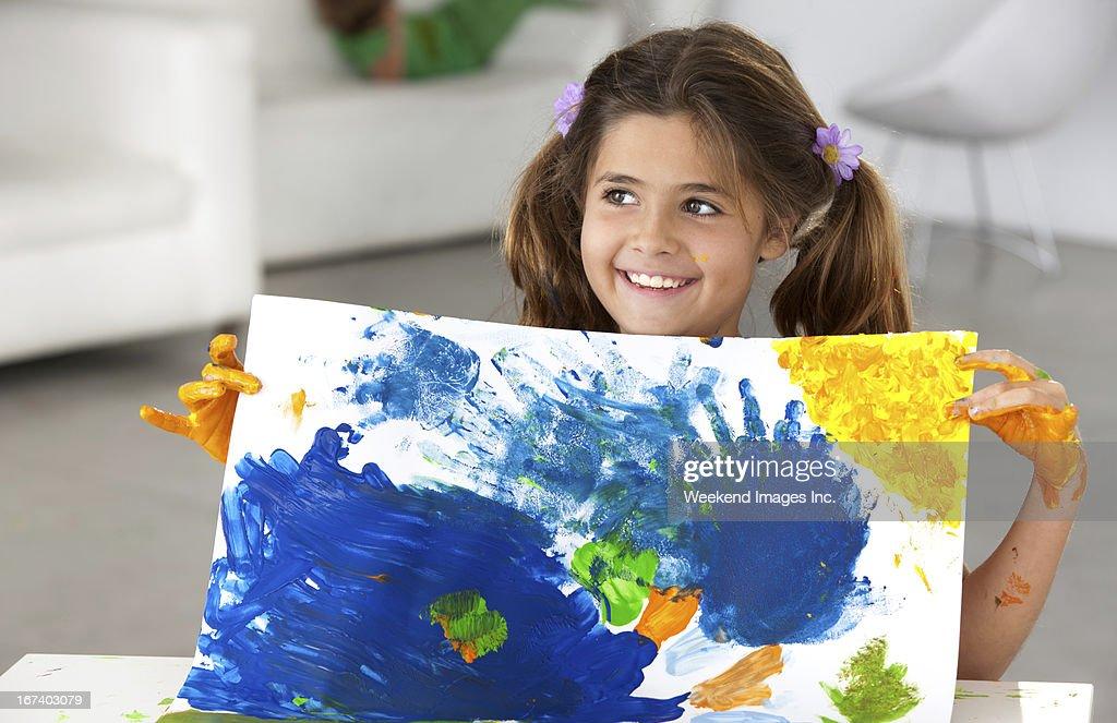 Creative girl : Stockfoto