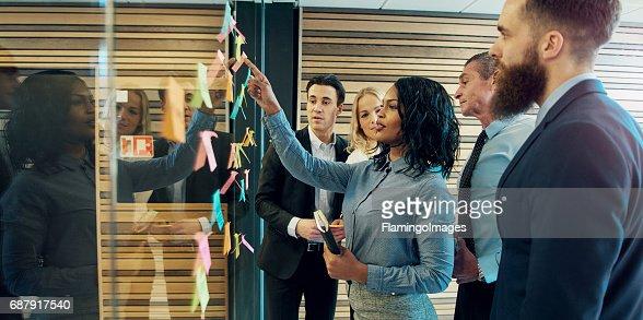 Creative group of business people : Foto de stock