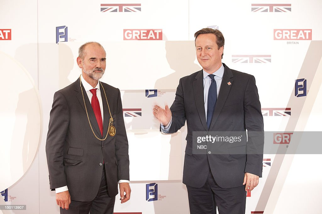 Creative Industries Reception -- Pictured: (l-r) Christopher Lebrun, <a gi-track='captionPersonalityLinkClicked' href=/galleries/search?phrase=David+Cameron+-+Politician&family=editorial&specificpeople=227076 ng-click='$event.stopPropagation()'>David Cameron</a> --
