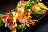 Creative Japanese Food - Enoki Bacon
