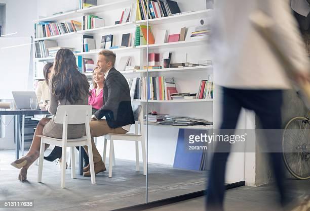 Creative people at meeting