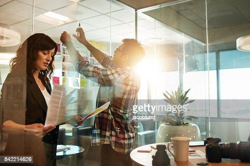 Creative people working on new project : Stock Photo