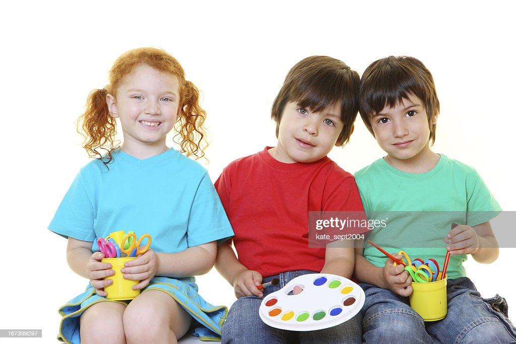 creative preschoolers : Stock Photo