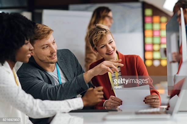 Creative Start-Up Business Team Brainstorming.