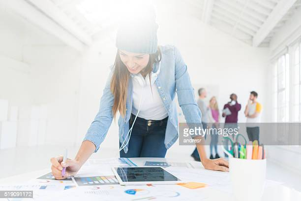 Creative woman working at the office