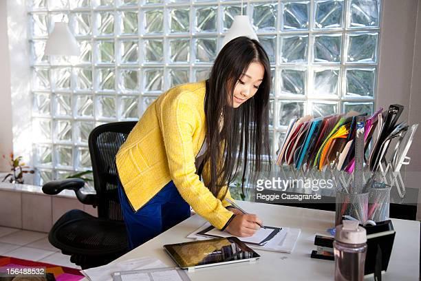 Creative woman working in fashion