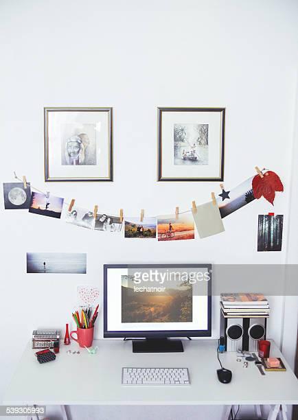 creative workspace desk