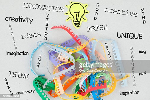 Creativity Concept Word Cloud : Stock Photo