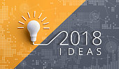 2018 creativity inspiration concepts with lightbulb.Business idea