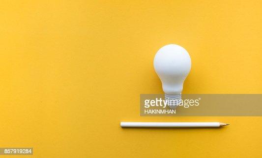 Creativity inspiration,ideas concept with lightbulb : Stock Photo