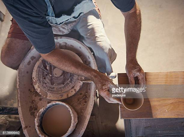 Creativity lies in the hands of the potter