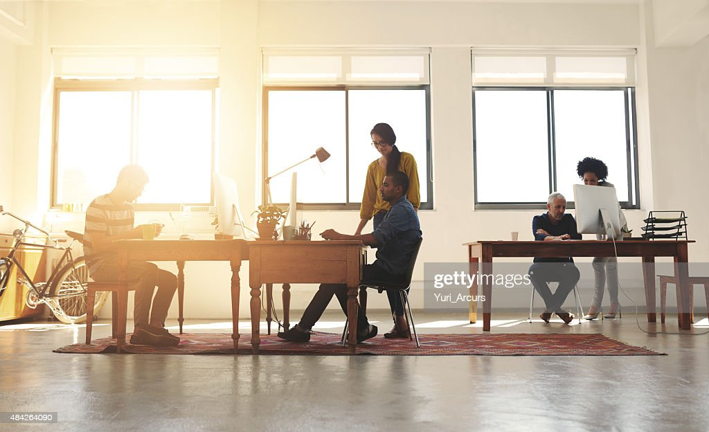 Creativity thrives in this office : Stock Photo