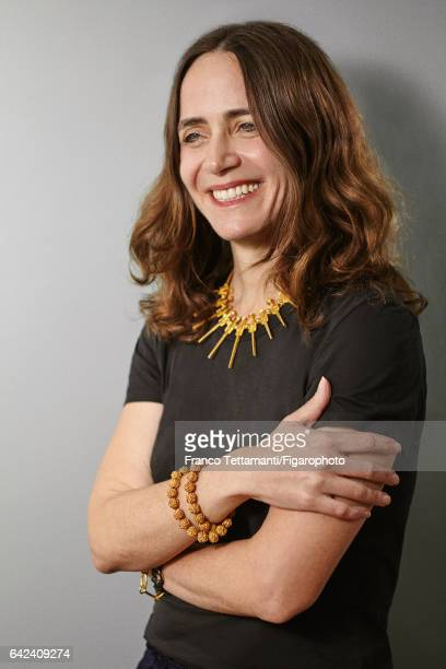 Creator and designer of sculptural jewelry Karen Chekerdjian is photographed for Madame Figaro on May 9 2016 in Paris France PUBLISHED IMAGE CREDIT...