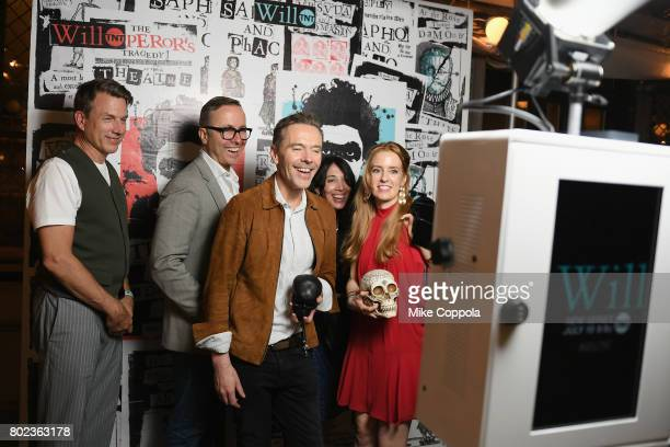 Creator and Executive Producer Craig Pearce poses in a photo booth during TNT's Season One 'Will' Premiere After Party at Bryant Park on June 27 2017...