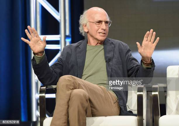 Creator and executive producer Larry David speaks onstage during the HBO Summer TCA 2017 at The Beverly Hilton Hotel on July 26 2017 in Beverly Hills...