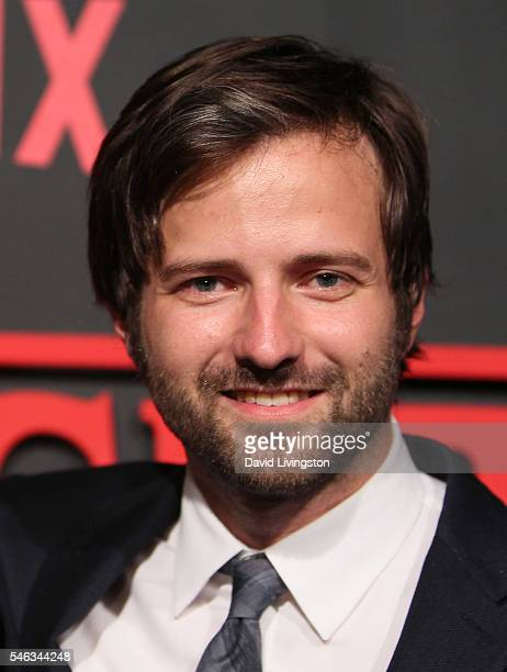 Creator and Executive Producer Matt Duffer attends the premiere of Netflix's 'Stranger Things' at Mack Sennett Studios on July 11 2016 in Los Angeles...