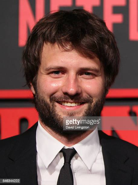 Creator and Executive Producer Ross Duffer attends the premiere of Netflix's 'Stranger Things' at Mack Sennett Studios on July 11 2016 in Los Angeles...